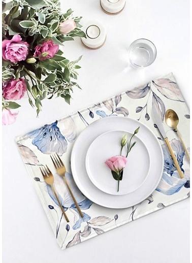 The Mia Flower Amerikan Servis 2 Li Set - 50 x 35 Cm Renkli